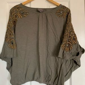Anthropologie Beaded Top